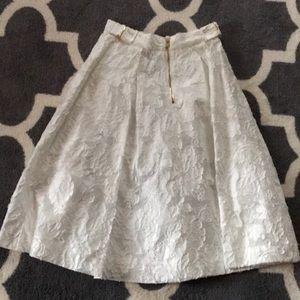 Dresses & Skirts - H & M white floral skater skirt